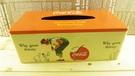 【震撼精品百貨】可口可樂_Coca Cola~鐵製面紙盒-復刻橘  (高標勿買)