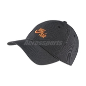 Nike 帽子 NSW H86 Cap 黑 橘 男女款 老帽 棒球帽 運動休閒 【PUMP306】 CU6358-011