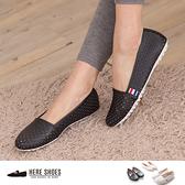 [Here Shoes]3色 嚴選透氣洞洞鞋 簡約舒適百搭懶人鞋 娃娃鞋 休閒鞋 豆豆鞋 ◆MIT台灣製─ANW506