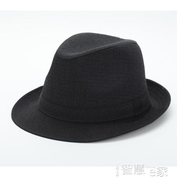 紳士帽老人帽子男60 70 80歲爺爺夏季禮帽西服布料中年爵士帽春秋薄款 交換禮物