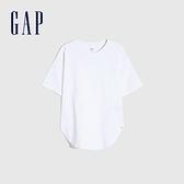 Gap女童 純棉質感厚磅短袖T恤 728128-白色