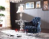 [紅蘋果傢俱] SF2051 新古典 沙發組 休閒椅 造型椅 洽談椅 沙發椅 單人椅 金箔 銀箔