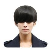 整頂假髮(真髮絲)-長瀏海短直髮自然男假髮2色73vb23[時尚巴黎]