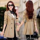 外套女裝春秋韓國風衣中長款寬鬆加肥加大碼氣質雙排扣女外套 早秋最低價促銷