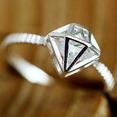 925純銀戒指鑲鑽-生日情人節禮物鑽石時尚女配件73ae108【巴黎精品】