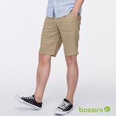 棉麻時尚短褲01黃銅色-bossini男裝