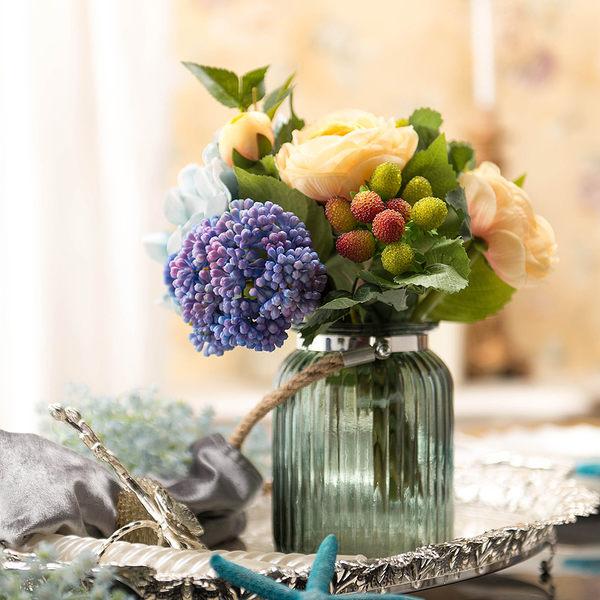 模擬花假花 套裝 花藝 客廳餐桌 裝飾花 花瓶花束 -bri02023