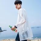夏季男士防曬衣韓版中長款風衣外套百搭超薄款透氣上衣服帥氣 中秋節全館免運