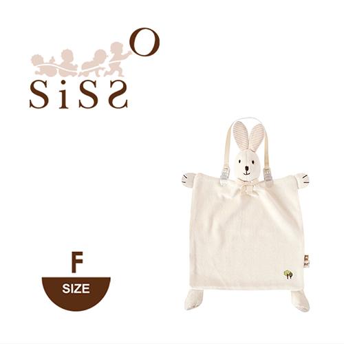 【SISSO有機棉】】有機米米兔安撫手帕巾+多用途圍兜夾組