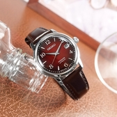 SEIKO 精工 / 4R35-04A0R.SRPE41J1 / PRESAGE 調酒師系列 機械錶 自動上鍊 牛皮手錶 紅x銀x褐 38mm