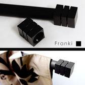 Franki窗簾桿裝飾頭-黑色(單入) 適用直徑28mm窗簾桿 窗簾零件配件/台灣製MIT【MSBT 幔室布緹】