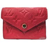 【Louis Vuitton 路易威登】M63701 Victorine系列經典Monogram牛皮三折暗釦短夾(紅色)