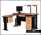 {{ 海中天休閒傢俱廣場 }} C-22 摩登時尚 辦公桌系列 183-24A CD秘書桌-160cm(木紋檯面)