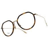 DIOR 光學眼鏡 STELLAIRE O9 2IK (琥珀-玫瑰金) 復古 造型款 圓框 鏡框 鏡架 # 金橘眼鏡