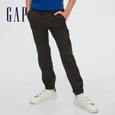 Gap男童 工裝風寬鬆式鬆緊休閒褲 598333-炭黑色