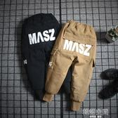 男童褲子加絨加厚工裝褲冬裝2018新款洋氣韓版潮休閒收腳兒童長褲