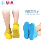 靚滌3雙一次性戶外乳膠鞋套下雨天防水加厚便攜耐磨學生男女腳套 歌莉婭