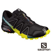 Salomon 男 SPEEDCROSS 4 野跑鞋-黑/硫磺 L39239800【GO WILD】