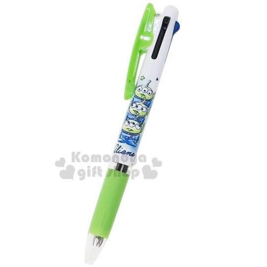 〔小禮堂〕迪士尼 玩具總動員 三眼怪 日製多色原子筆《綠.堆疊》3色筆.Jetstream系列 4991277-04591