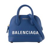 【BALENCIAGA】VILLE TOP HANDLE二用貝殼包(藍色) XXS 550646 0OTDM 4130