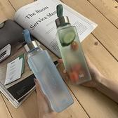 日系便攜隨手杯玻璃杯方形磨砂水杯【探索者】