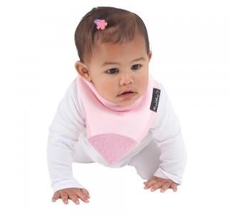 紐西蘭 Mum 2 Mum 機能型神奇三角口水巾咬咬兜-粉紅 吃飯衣 口水衣 防水衣