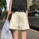 夏季韓版高腰闊腿短褲女寬鬆顯瘦學生百搭工...