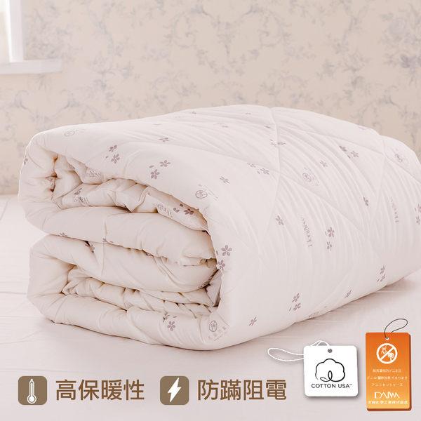 羊毛被 5x7單人/紐西蘭羊毛/純棉表布/防蹣抗菌羊毛被/美國棉授權品牌[鴻宇]台灣製