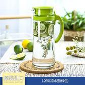 (交換禮物)冷水壺玻璃耐高溫防爆涼水壺耐熱大茶壺涼水杯家用套裝