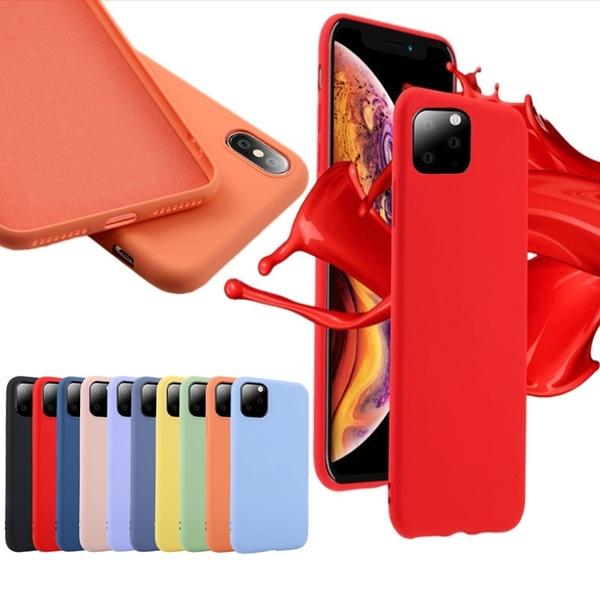 King*Shop---蘋果 11手機殼pro max液態硅膠蘋果XR創意XS全包XS MAX保護套適用11 PRO