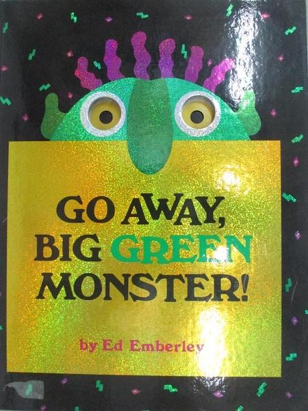 【書寶二手書T1/少年童書_DXA】Go away, big green monster!_Emberley, Ed