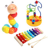 扭扭蟲繞珠八音手敲小木琴嬰幼兒童益智男女孩音樂寶寶玩具1-3歲  八折免運 最後一天