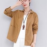 中老年女裝秋裝棉麻長袖襯衫40-50歲媽媽裝亞麻襯衣寬鬆打底上衣