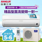 含基本安裝【台灣三洋SANLUX】5-6坪變頻單冷一對一分離式精品型冷氣(SAC-36V6/SAE-36V6)