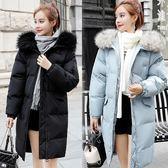 【韓國K.W.】(預購) 時尚百搭暖冬大毛領羽絨外套