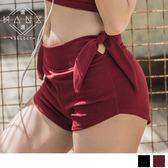 5347【Hans select】高腰修身綁帶運動短褲(預購款)