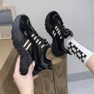 老爹鞋 春新款正韓休閒老爹鞋女百搭反光學生厚底運動鞋鞋子女-Ballet朵朵