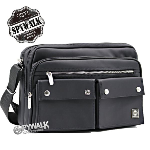 側肩包 SPYWALK城市旅人前双口袋男士側包 NO:1612