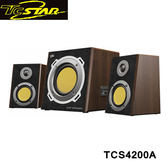 T.c.star 連鈺 多功能360度環繞2.1多媒體喇叭(木紋) TCS4200A