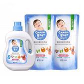 雪芙蘭親貝比 - 嬰兒溫和洗衣精 1罐1000ml+2補充包800ml