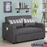 【采桔家居】迦納 現代灰棉麻布二人沙發/沙發床(拉合式機能設計)
