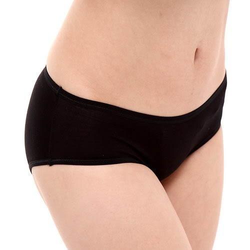 生理褲透氣舒適輕薄貼身包臀-黑-波曼妮亞
