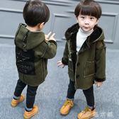 兒童裝男童加絨加厚風衣寶寶外套4中長款衣服1-2-3歲5冬季潮6 伊鞋本鋪