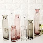 618好康鉅惠簡約長身透明玻璃花瓶漏斗瓶口
