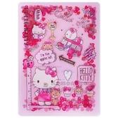 〔小禮堂〕Hello Kitty 雙開式文件夾《B6 粉黃亮片流沙》資料夾L 夾檔案夾4901610 36350