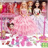 芭比娃娃會說話的芭比娃娃套裝女孩公主大禮盒別墅城堡婚紗洋娃娃兒童玩具