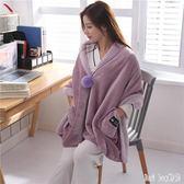 懶人毯多功能毯子辦公室午睡毛毯披肩斗篷冬季加厚蓋腿小毯子 QQ12939『bad boy時尚』