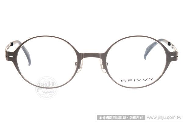 SPIVVY 光學眼鏡 SP1177 GY (銀-藍) 卓越質感簡約圓框款 # 金橘眼鏡