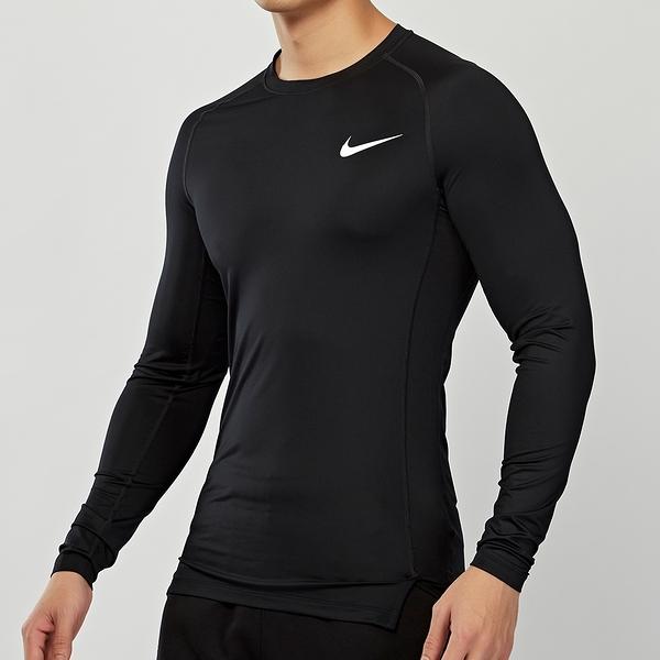 Nike AS M NP Top LS Tight 男款 黑 訓練 緊身 上衣 長袖 BV5589-010