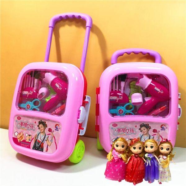 兒童化妝玩具兒童玩具女孩化妝盒仿真過家家梳妝台收納箱3-6周歲公主生日禮物 耶誕交換禮物